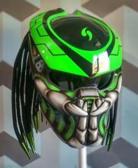 Predator Helmets Green Black Hot Offer Edition
