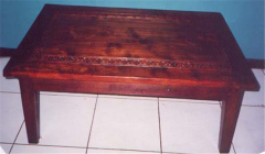 Flower Carved Coffee Table