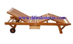 Teak patio Lounger, sunbeds