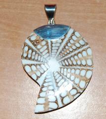Silver Pendants With Seashell
