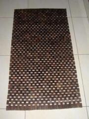 Wooden carpet for toilet