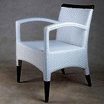 Angela White Dining Arm Chair Osier Series