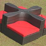 Iron Cross Sofa Set