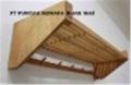 Wooden Hanger and Shelves