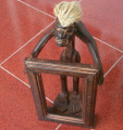Photo frame single statue