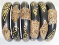Bangles Carved Wood