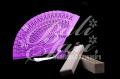 Fan Wooden  Purple