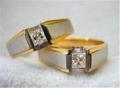 Two tone wedding ring