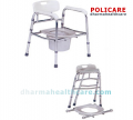 Aluminum folding commode