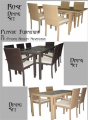 Rose Dining Set In Synthetic Rattan