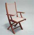 Folding Arm Chair Brass Parisian