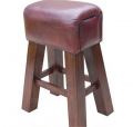 Bar Stool Horse leather