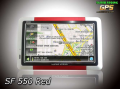 GPS Car Navigation SF 550 Red