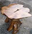 Teak root mushroom table