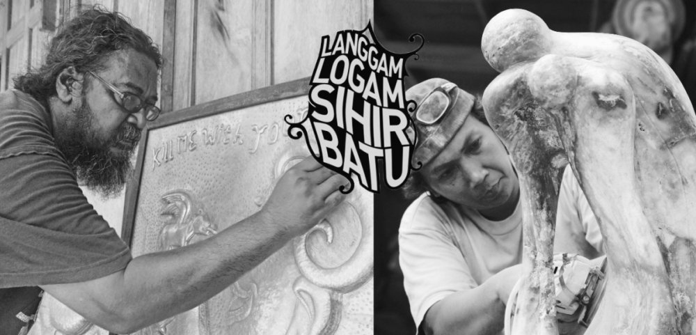 Order Sculpture Art Exhibition Langgam Logam, Sihir Batu